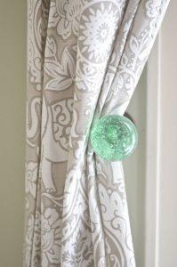 green glass tie back