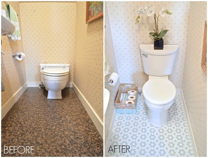 powder room before after