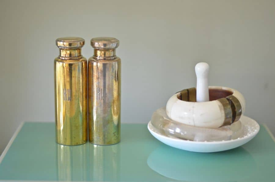 silver perfume bottles