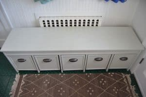 5-bin mudroom storage bench