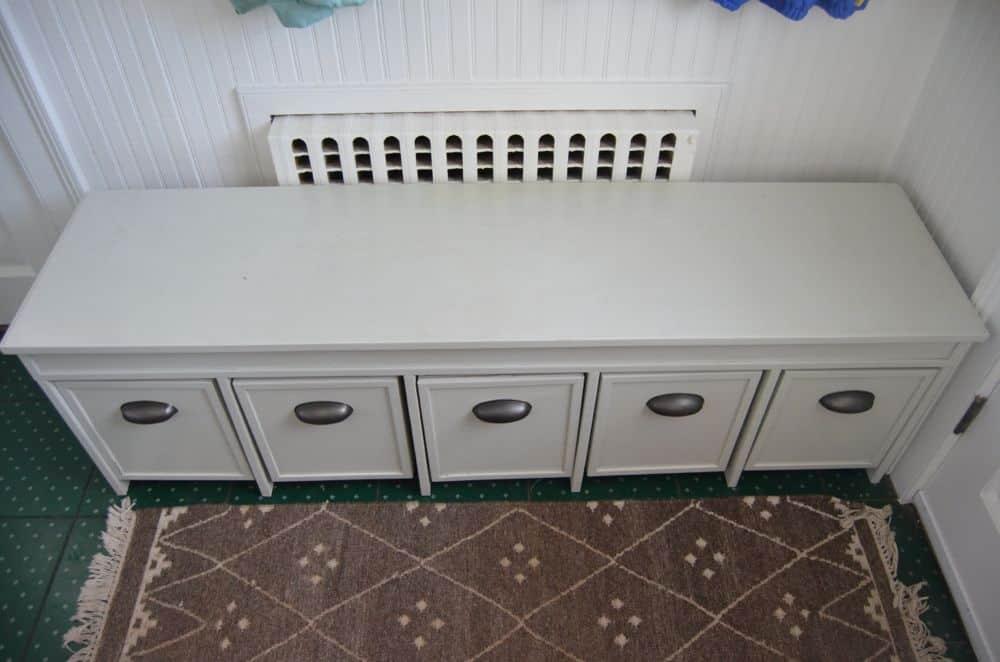 5-bin mudroom storage bench