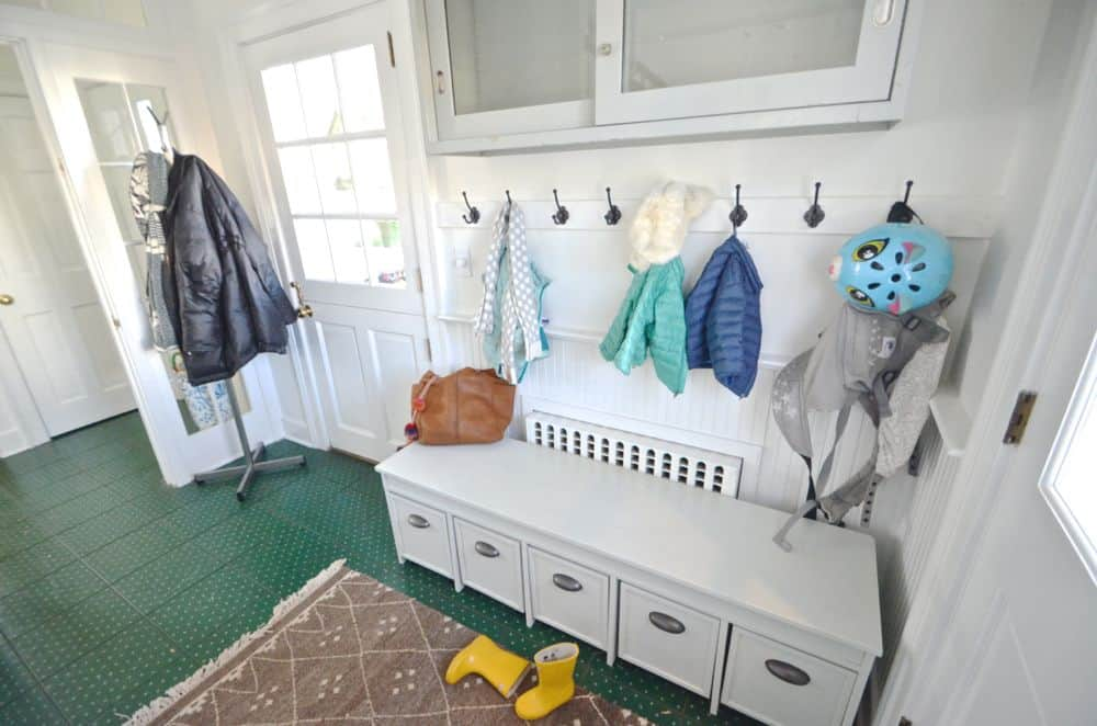 Homemade Mudroom