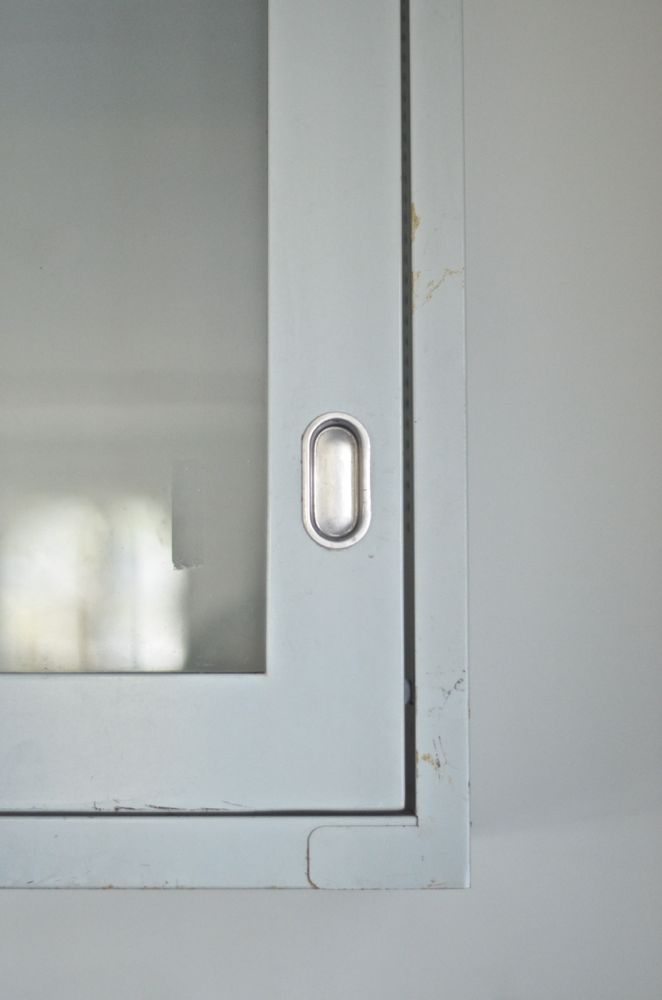 close up salvage lab cabinet