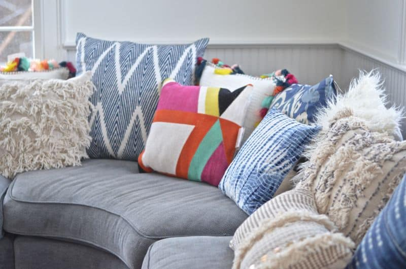 corner sectional pillows
