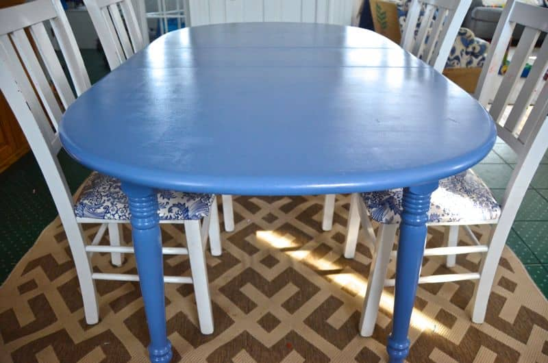 craigslist table with paint