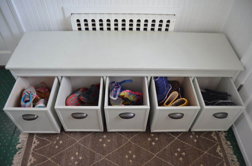 drawers in custom mudroom