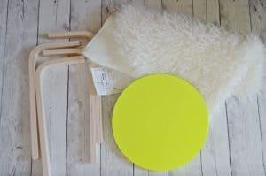 flokati stools materials