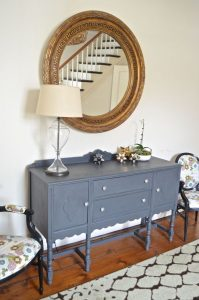 gray foyer table