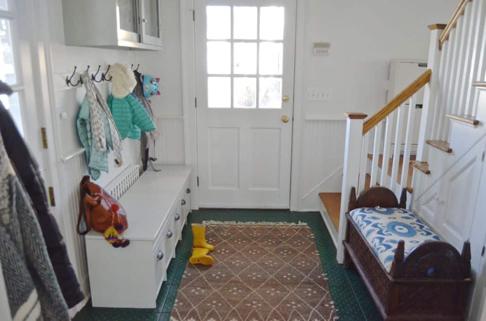 handmade Mudroom after