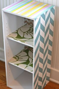 laminate shelf with DIY colors