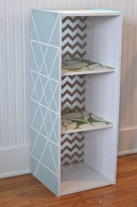 laminate shelf with paint and pattern