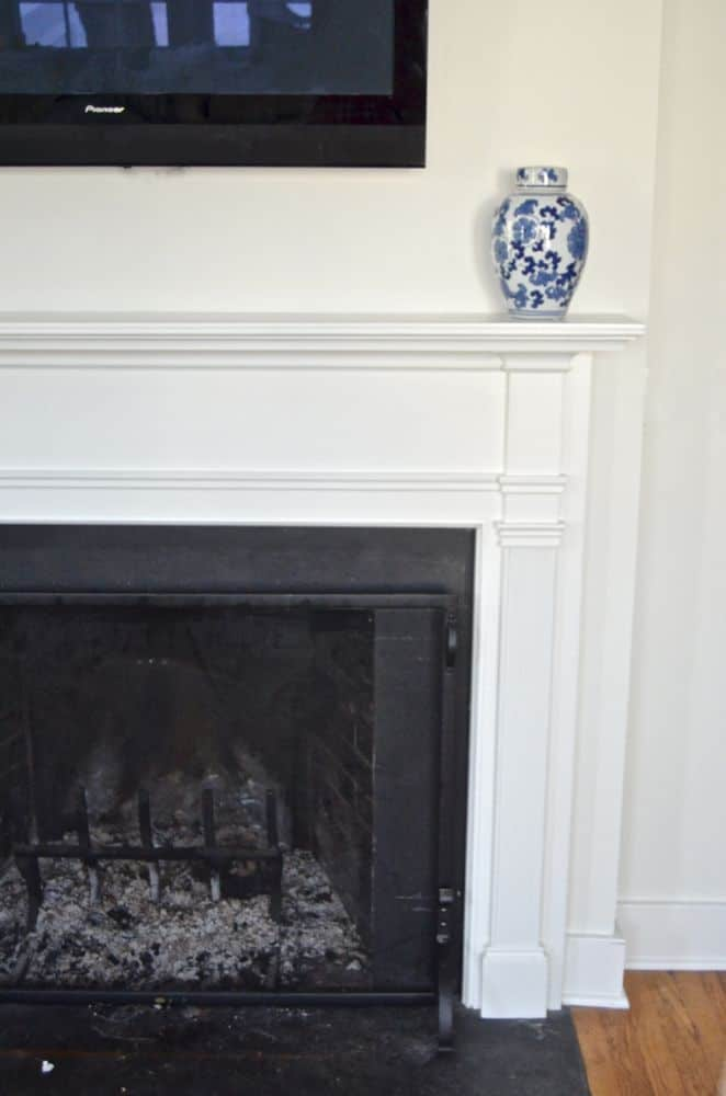 mantel family room