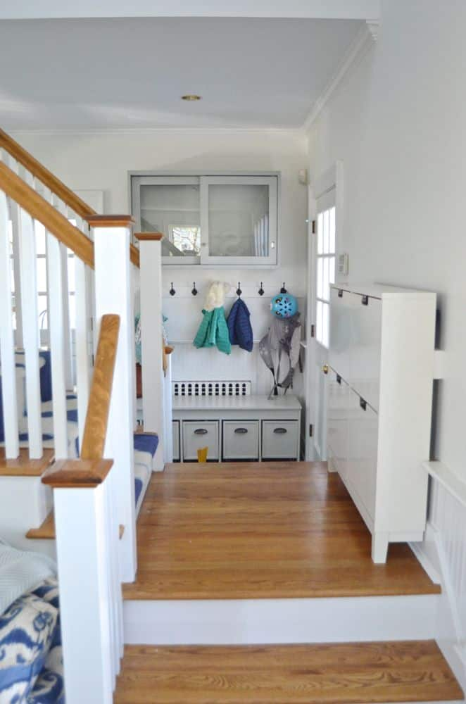 mudroom next to family room