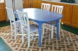 painted Craigslist table