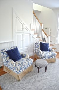 pair of recovered ikat chairs