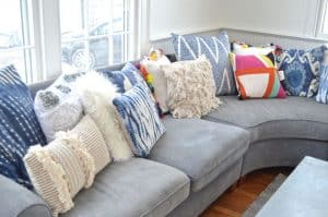 sectional pillows