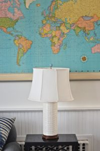 thrifted lamp and vitnage map