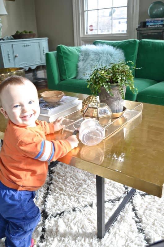 Arthur with table