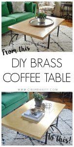 DIY Brass Coffee Table