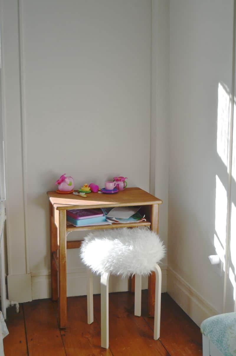 Desk area before