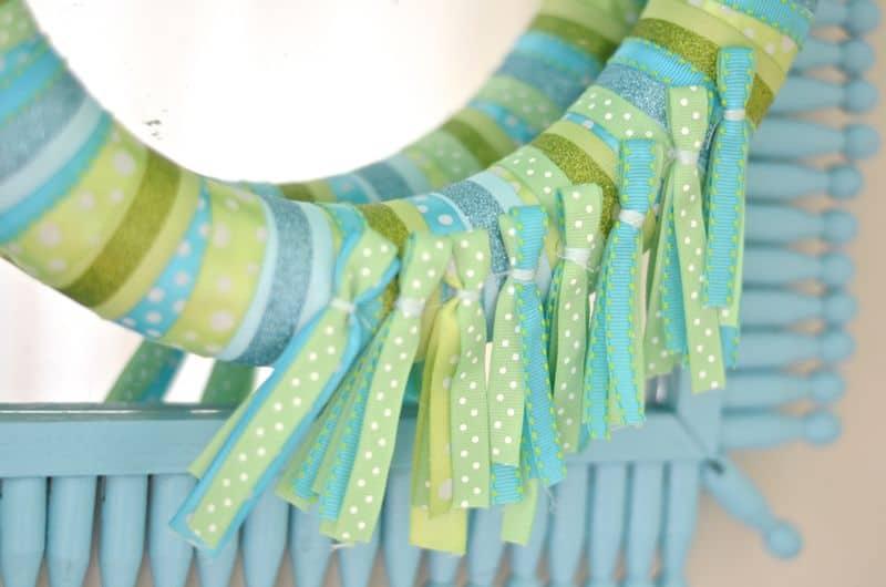 Detail of ribbon tassels