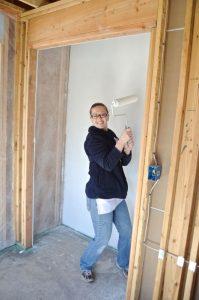 Jillian painting closet