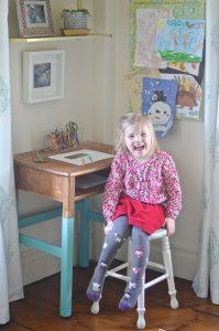 Martha at her desk
