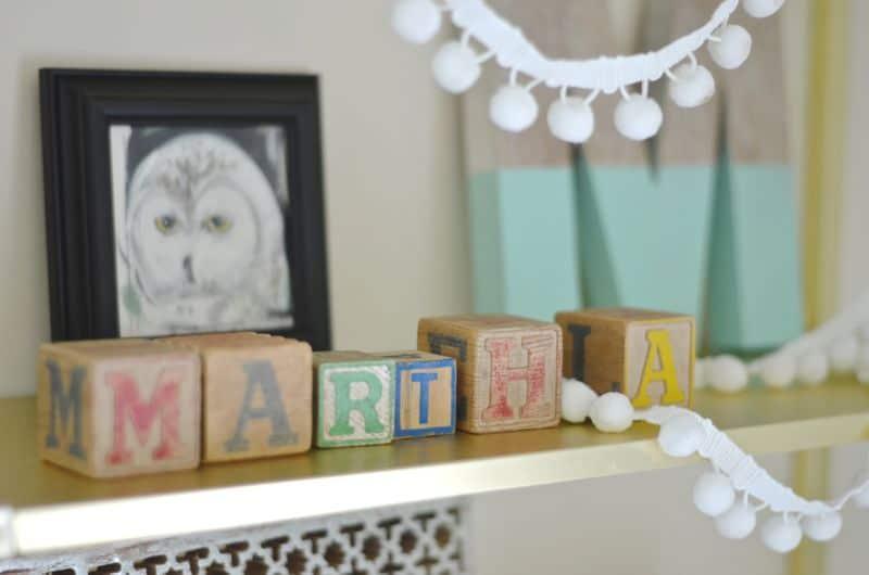Martha's Colorful Desk Area