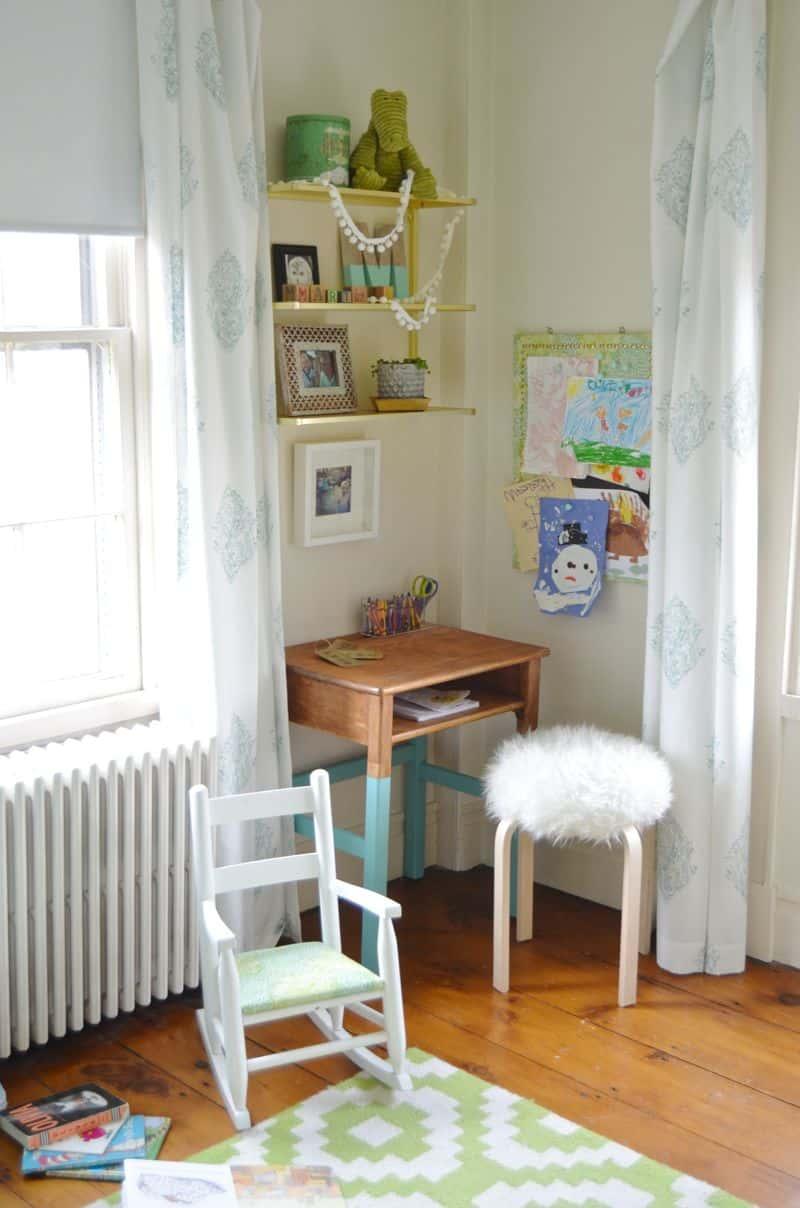 Martha's desk area