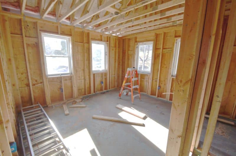 Master bedroom before insulation