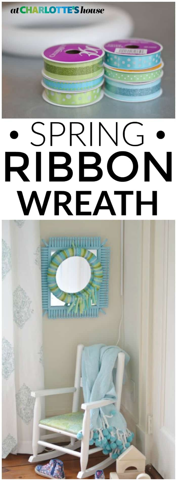 Make this easy and CHEAP wreath for spring in no time at all... loving the pattern in there!