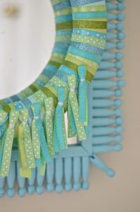 Tassels on ribbon wreath