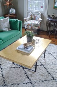 brass coffee table topper