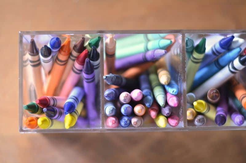 crayons on martha's desk