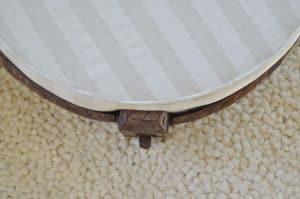 detail of ottoman edge