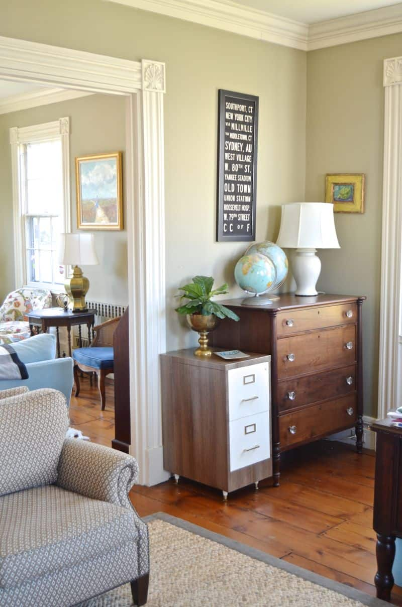 file cabinet in room