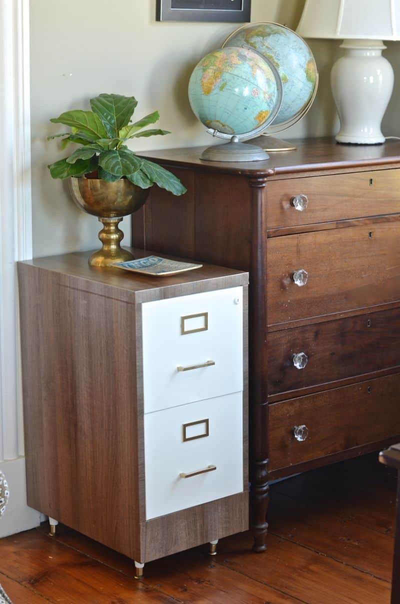 upcycled file cabinet