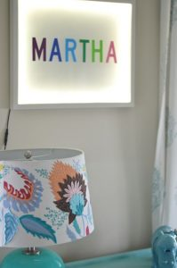 kids name on light up sign