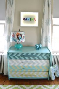 light box in girl's room