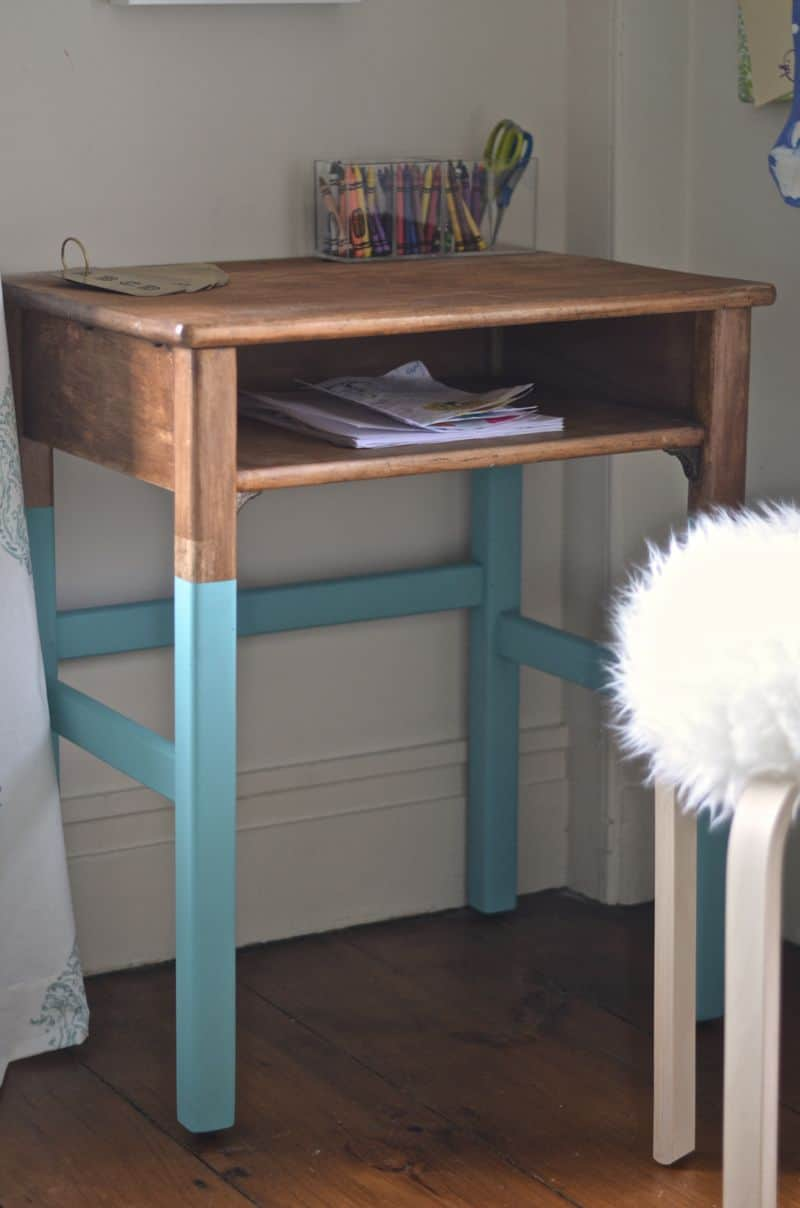 martha's desk with painted legs