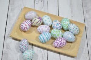 paint pen on easter eggs