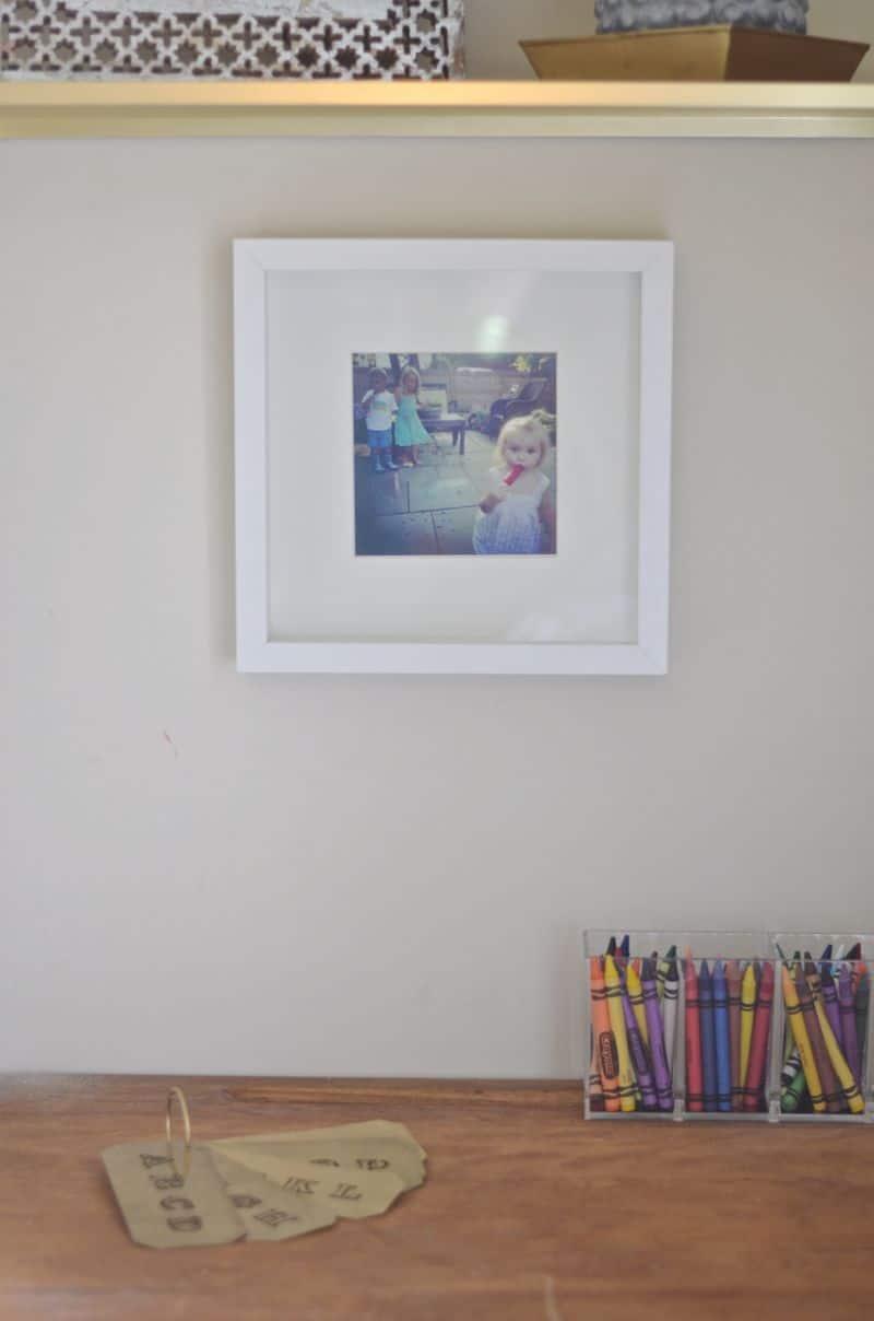 picture above desk