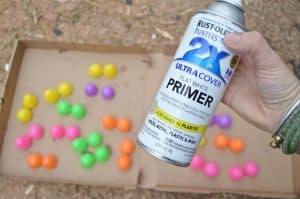 spray primer easter eggs