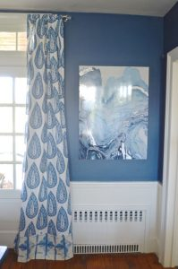 Blue Lacefield Curtains