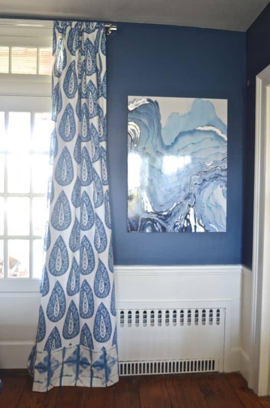 DIY tabbed curtains
