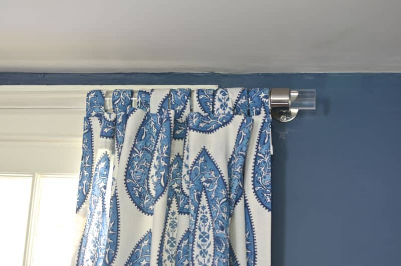 Detail of curtain tabs