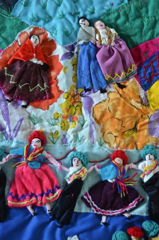 Detail of peruvian fabric