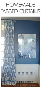 Homemade Tabbed Curtains