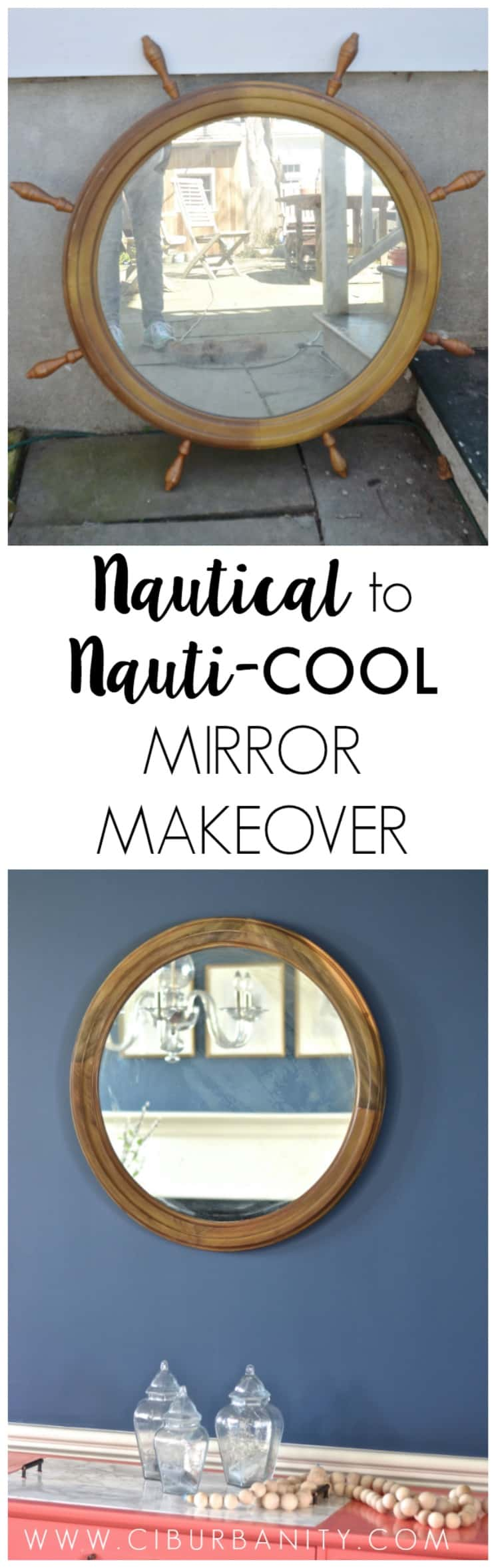 Nautical Mirror Makeover