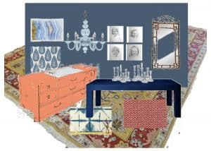 One room challenge dining room vision board